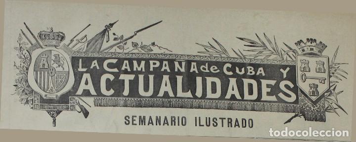 Coleccionismo de Revistas y Periódicos: Semanario La Campaña de Cuba y Actualidades. - Foto 7 - 146074642