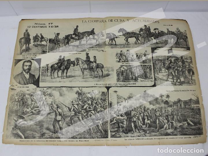 Coleccionismo de Revistas y Periódicos: Semanario La Campaña de Cuba y Actualidades. - Foto 4 - 146074642