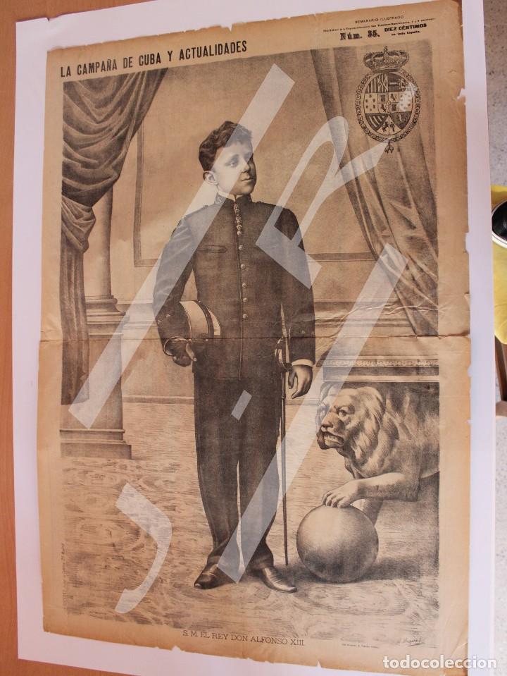 Coleccionismo de Revistas y Periódicos: Semanario La Campaña de Cuba y Actualidades. - Foto 5 - 146074642