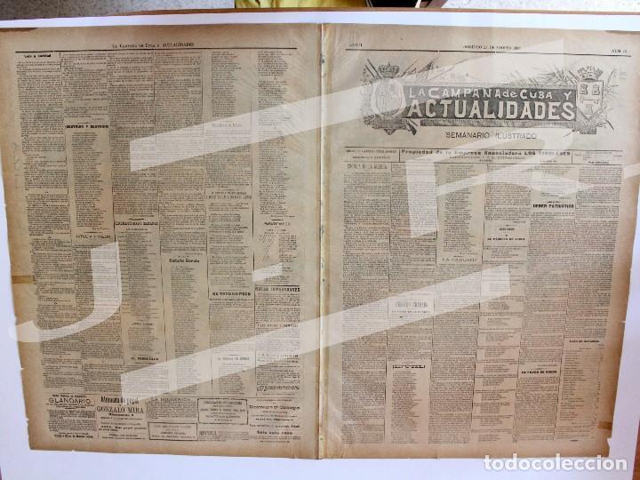 Coleccionismo de Revistas y Periódicos: Semanario La Campaña de Cuba y Actualidades. - Foto 11 - 146074642