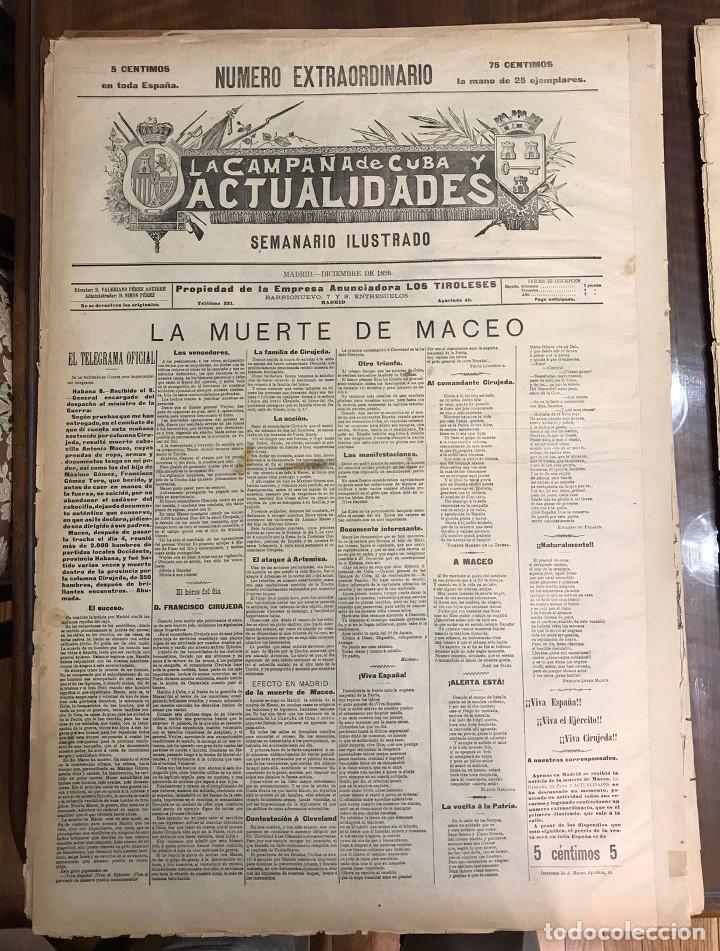 Coleccionismo de Revistas y Periódicos: Semanario La Campaña de Cuba y Actualidades. - Foto 15 - 146074642