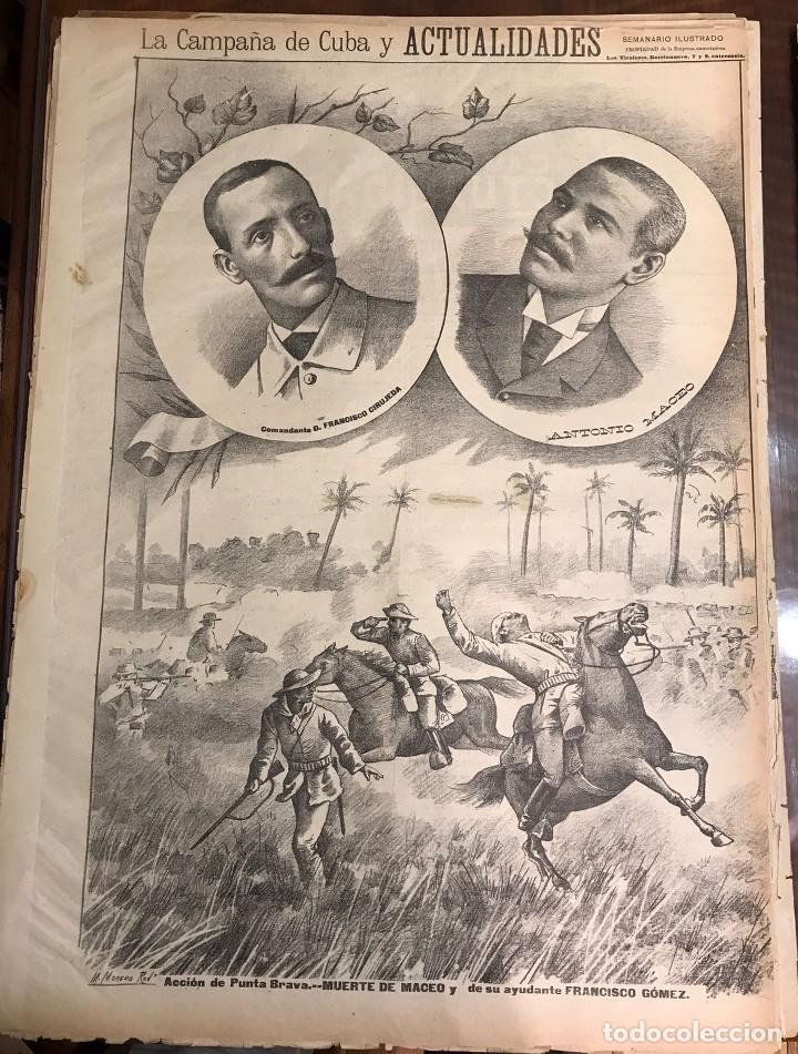 SEMANARIO LA CAMPAÑA DE CUBA Y ACTUALIDADES. (Coleccionismo - Revistas y Periódicos Antiguos (hasta 1.939))