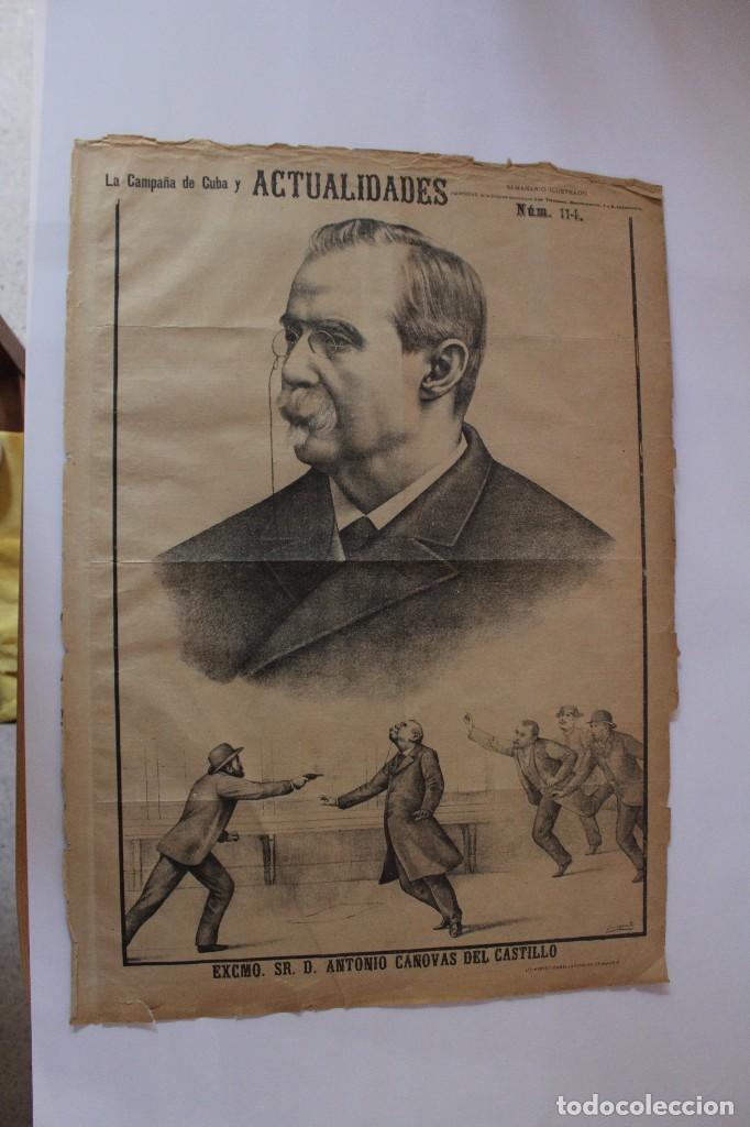 Coleccionismo de Revistas y Periódicos: Semanario La Campaña de Cuba y Actualidades. - Foto 16 - 146074642