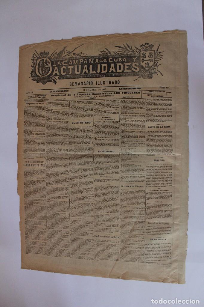 Coleccionismo de Revistas y Periódicos: Semanario La Campaña de Cuba y Actualidades. - Foto 17 - 146074642