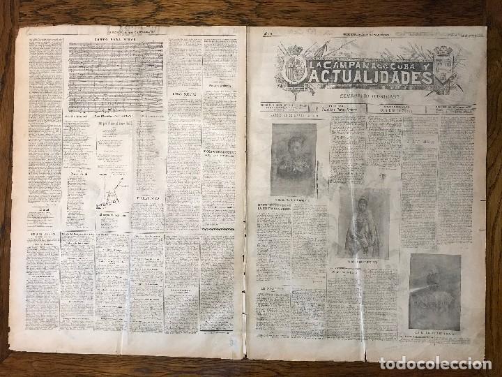 Coleccionismo de Revistas y Periódicos: Semanario La Campaña de Cuba y Actualidades. - Foto 20 - 146074642