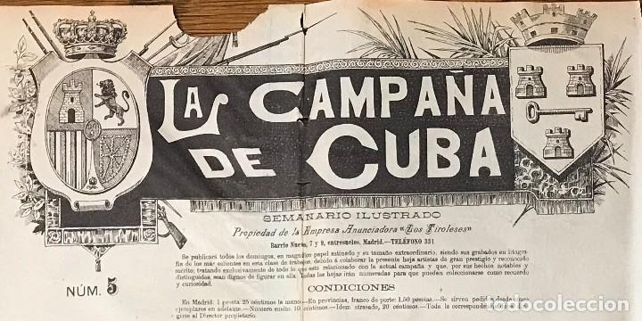 Coleccionismo de Revistas y Periódicos: Semanario La Campaña de Cuba y Actualidades. - Foto 2 - 146074642