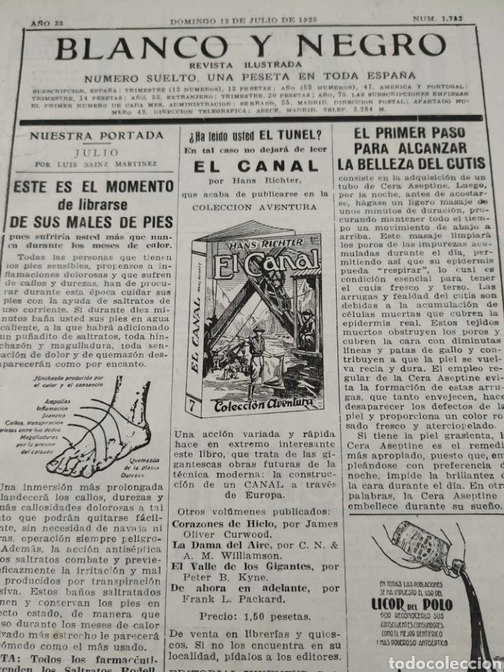 Coleccionismo de Revistas y Periódicos: Revista blanco y negro número 1782 domingo 12 de julio de 1925 - Foto 2 - 146083674