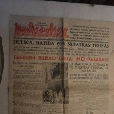 Coleccionismo de Revistas y Periódicos: PERIODICO MUNDO OBRERO JUNIO 1937(GUERRA CIVIL) BILBAO GRITA: NO PASARÁN. Lote 146115546