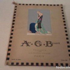 Coleccionismo de Revistas y Periódicos: ART-GOÛT-BEAUTÉ Nº 54 - LUJOSA REVISTA DE MODA FRANCESA - TEXTO EN CASTELLANO - FEBRERO 1925. Lote 146116014