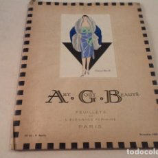 Coleccionismo de Revistas y Periódicos: ART-GOÛT-BEAUTÉ Nº 75 - LUJOSA REVISTA DE MODA FRANCESA - TEXTO EN CASTELLANO - NOVIEMBRE 1926. Lote 146117242