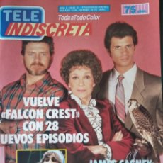 Coleccionismo de Revistas y Periódicos: TELEINDISCRETA Nº 61, COMPLETA, 1986, FALCON CREST, PEDRO RUIZ, JAMES CAGNEY, TELE-INDISCRETA. Lote 146227206