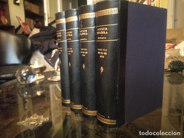 Coleccionismo de Revistas y Periódicos: REVISTA ACCIÓN ESPAÑOLA (COLECCIÓN COMPLETA ENCUADERNADA). 18 TOMOS, INCLUYENDO ANTOLOGÍA. - Foto 8 - 146239082