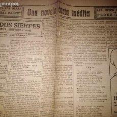 Coleccionismo de Revistas y Periódicos: UNA NOVELA CORTA INEDITA LAS DOS SIERPES LEYENDA ARISTOCRATICA VICTOR GABIRONDO 1920. Lote 146266894