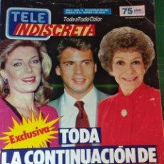 Coleccionismo de Revistas y Periódicos: TELEINDISCRETA - Nº 72 1986 COMPLETA -FALCON CREST, TELE INDISCRETA. Lote 146275830