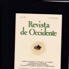 Coleccionismo de Revistas y Periódicos: REVISTA DE OCCIDENTE - Nº 109 / JUNIO 1990. Lote 146334042