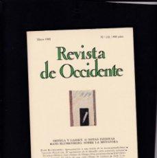 Coleccionismo de Revistas y Periódicos: REVISTA DE OCCIDENTE - Nº 132 / MAYO 1992. Lote 146334226