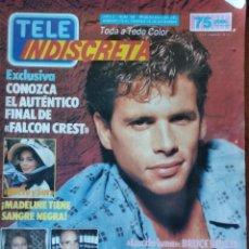 Coleccionismo de Revistas y Periódicos: TELEINDISCRETA - Nº 96- 1986 COMPLETA,FALCON CREST, NORTE Y SUR, LUZ DE LUNA, PATRICK SWAYZE. Lote 146369258