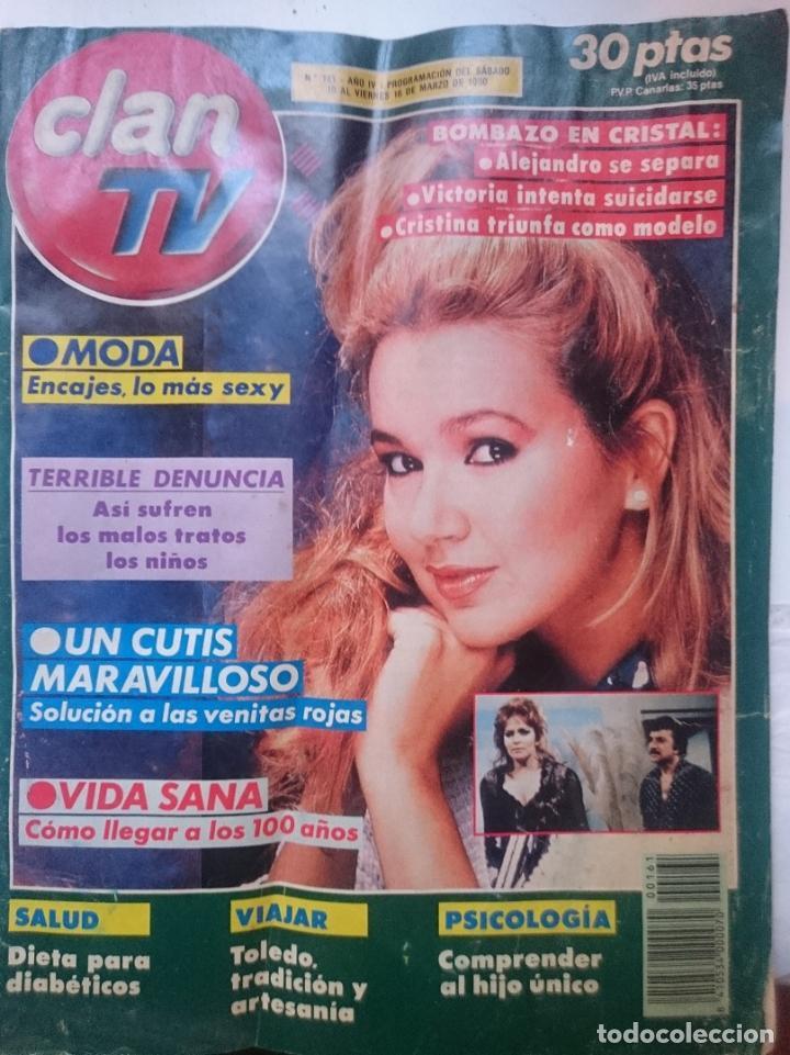 REVISTA CLAN TV - DEL 10 AL 16 DE MARZO DE 1990 CON TELENOVELA CRISTAL (Coleccionismo - Revistas y Periódicos Modernos (a partir de 1.940) - Otros)