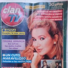 Coleccionismo de Revistas y Periódicos: REVISTA CLAN TV - DEL 10 AL 16 DE MARZO DE 1990 CON TELENOVELA CRISTAL. Lote 146455942