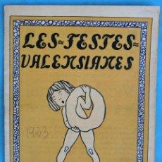 Coleccionismo de Revistas y Periódicos: REVISTA FALLERA, FALLAS DE VALENCIA , LES FESTES VALENSIANES, LES FALLES , 1923 ,ORIGINAL, RF2. Lote 146543314