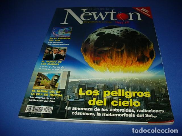 REVISTA NEWTON Nº 2. JUNIO 1998. LOS PELIGROS DEL CIELO...RADIACIONES COSMICAS, ASTEROIDES... (Coleccionismo - Revistas y Periódicos Modernos (a partir de 1.940) - Otros)