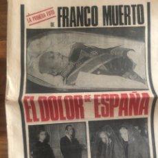 Coleccionismo de Revistas y Periódicos: PERIÓDICO FRANCO MUERTO 20 NOVIEMBRE 1975 PUEBLO. Lote 146629877