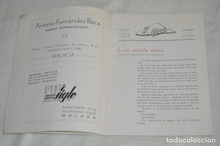 Coleccionismo de Revistas y Periódicos: ANTIGUA REVISTA EL MONTE - AÑO 1956 EN MÁLAGA - COLEGIO DE LA SAGRADA FAMILIA - VINTAGE - Envío 24h - Foto 6 - 146631770