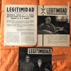Coleccionismo de Revistas y Periódicos: LEGITIMIDAD-3 REVISTAS ANTIGUAS.. Lote 146537258
