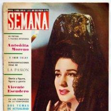 Coleccionismo de Revistas y Periódicos: REVISTA SEMANA Nº 1312. 13-04-1965. ANTOÑITA MORENO. VICENTE ESCUDERO. Lote 146651458