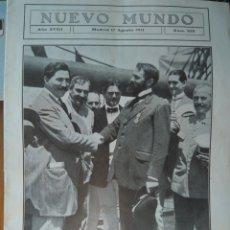 Coleccionismo de Revistas y Periódicos: REVISTA NUEVO MUNDO N 919 AGOSTO 1911- IMPOSICIÓN EN ALICANTE MEDALLA SOCIEDAD ESPAÑOLA SALVAMENTO. Lote 146651740