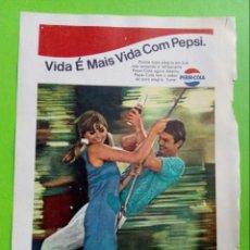 Coleccionismo de Revistas y Periódicos: VINTAGE PUBLICIDADE PEPSI-COLA. 1968 PAGINA DE REVISTA. Lote 146679570
