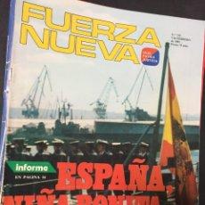 Coleccionismo de Revistas y Periódicos: LOTE 6 REVISTAS FUERZA NUEVA AÑOS 1981 Y 1982 VER DETALLES. Lote 146707578