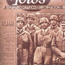 Coleccionismo de Revistas y Periódicos: REVISTA FOTOS 25 MAYO 1940 - HITLER EN BÉLGICA - FASCISMO -SEGUNDA GUERRA MUNDIAL. Lote 146720090