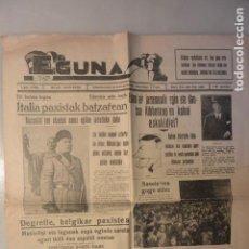 Coleccionismo de Revistas y Periódicos: ÚNICO PERIODICO EUSKADI EGUNA. 28-FEBRERO 1937. EN EUSKERA. GUERRA CVIL. Lote 146893118