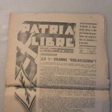 Coleccionismo de Revistas y Periódicos: RARO PERIODICO EUSKADI PATRIA LIBRE. CASTELLANO Y EUSKERA. 11MARZO 1937. AÑO 1 Nº 2. Lote 146894154