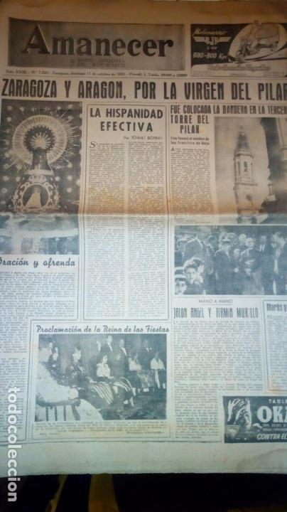 Coleccionismo de Revistas y Periódicos: TORERO FERMIN MURILLO FOTO JALON ANGEL AMANECER DIARIO ARGONES DEL MOVIMIENTO 11 OCTUBRE 1959 - Foto 2 - 146906674