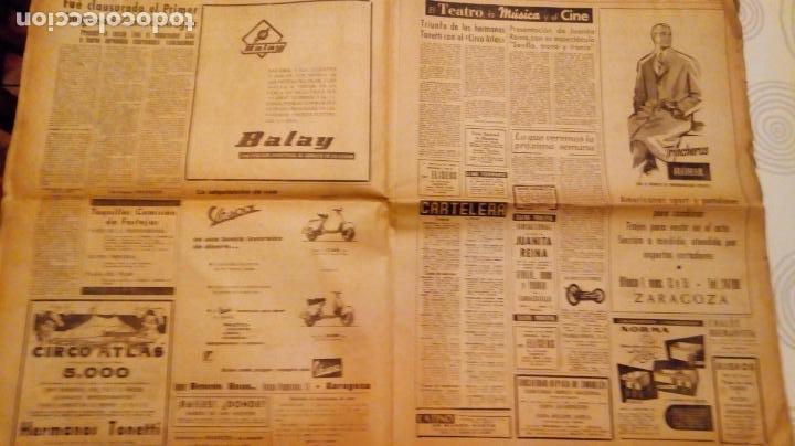 Coleccionismo de Revistas y Periódicos: TORERO FERMIN MURILLO FOTO JALON ANGEL AMANECER DIARIO ARGONES DEL MOVIMIENTO 11 OCTUBRE 1959 - Foto 7 - 146906674
