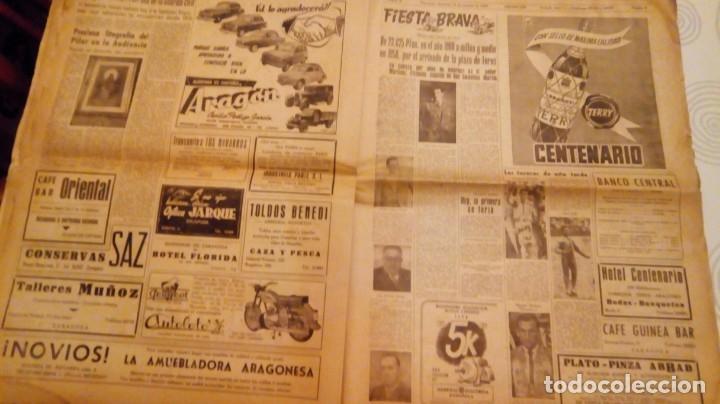 Coleccionismo de Revistas y Periódicos: TORERO FERMIN MURILLO FOTO JALON ANGEL AMANECER DIARIO ARGONES DEL MOVIMIENTO 11 OCTUBRE 1959 - Foto 8 - 146906674