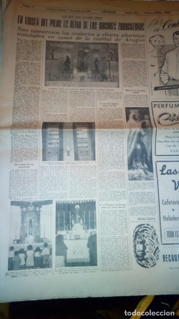 Coleccionismo de Revistas y Periódicos: TORERO FERMIN MURILLO FOTO JALON ANGEL AMANECER DIARIO ARGONES DEL MOVIMIENTO 11 OCTUBRE 1959 - Foto 10 - 146906674