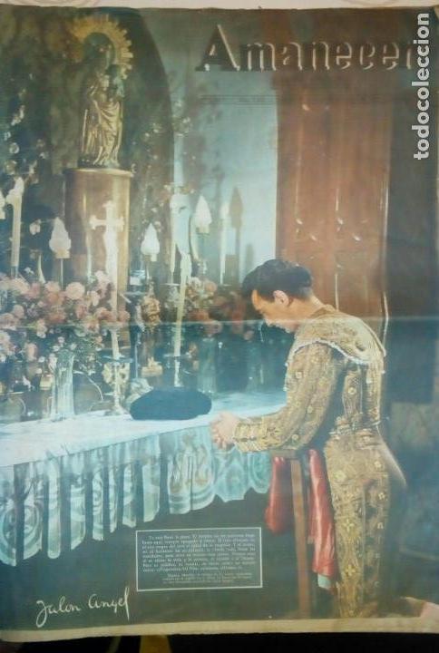 TORERO FERMIN MURILLO FOTO JALON ANGEL AMANECER DIARIO ARGONES DEL MOVIMIENTO 11 OCTUBRE 1959 (Coleccionismo - Revistas y Periódicos Modernos (a partir de 1.940) - Otros)