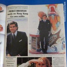 Coleccionismo de Revistas y Periódicos: RECORTE REPORTAJE CLIPPING DE PIERCE BROSNAN LA CASA NOBLE REVISTA SEMANA Nº 2461 PÁG 85-86. Lote 146932610