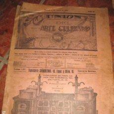 Coleccionismo de Revistas y Periódicos: ANTIGUA REVISTA UNION DEL ARTE CULINARIO COCINA SOCIEDAD DE COCINEROS, REPOSTEROS AÑO 1916 Nº 20. Lote 146954222