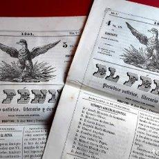 Coleccionismo de Revistas y Periódicos: EL FENIX - 1851 - PERIODICO SATIRICO - N º 1 - 2 - 3 . Lote 146978078