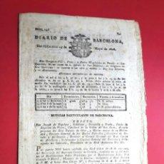 Colecionismo de Revistas e Jornais: DIARIO DE BARCELONA - GUERRA DE INDEPENDENCIA - MAYO DE 1808 - Nº 146. Lote 146978578