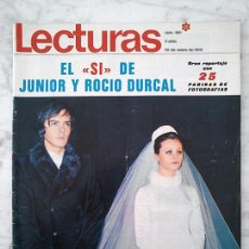Coleccionismo de Revistas y Periódicos: LECTURAS - 1970 - BODA DE JUNIOR Y ROCÍO DURCAL, ROSE KENNEDY Y JACKIE ONASSIS, GIANNI MORANDI. Lote 42532455