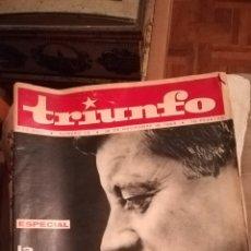 Coleccionismo de Revistas y Periódicos: TRIUNFO, DE 30 DE NOVIEMBRE DE 1963. Lote 147116104