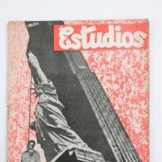 Coleccionismo de Revistas y Periódicos: REVISTA ESTUDIOS, JULIO 1934, NÚM. 131, PORTADA DE JOSEP RENAU, VALENCIA. 19,5X26CM. Lote 147135794