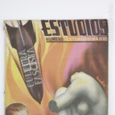 Coleccionismo de Revistas y Periódicos: REVISTA ESTUDIOS, NÚMERO EXTRAORDINARIO, ENERO 1937, NÚM. 160, PORTADA DE MONLEÓN, VALENCIA. 19X26CM. Lote 147136846