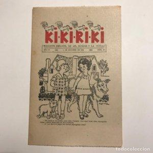 Kikiriki. Folletín infantil de El hogar y la moda. año II, nº 29, 5 de octubre de 1926