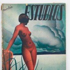 Coleccionismo de Revistas y Periódicos: REVISTA ESTUDIOS, ABRIL 1935, NÚM. 140, PORTADA DE MANUEL MONLEÓN, VALENCIA. 19X26,5CM. Lote 147152258